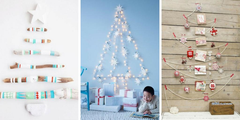 Árvores de Natal nas paredes